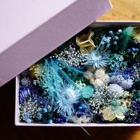 FLOWER GIFT BOX(LIGHT BLUE)