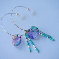 "【Summer Museum】hoop pierce ""deep blue"""