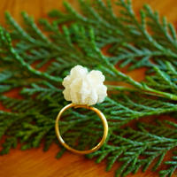 "【ivory series】Flower Ring ""flower cone"""
