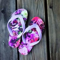 """【Summer museum】""""flower trip"""" beach sandals(kids)"""