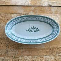 ARABIA ovall plate_green