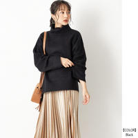 【全5色】ブークレ 天竺編み タートルネックニット