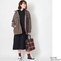 【全4色】ソフトコーデュロイ中綿コート