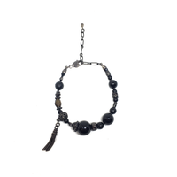 【BLACK COLLECTION】gunda<ガンダ>ONYX NERO BRACELET[オニキスネロブレスレット]