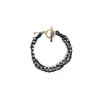 【BLACK COLLECTION】gunda<ガンダ>BUBBLE ARROWS BRACELET/A[バブルアローズブレスレット/A]