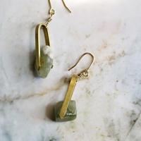 Brass & Aventurine Drop Earrings 2