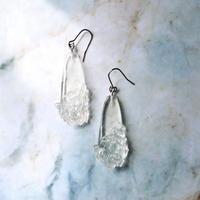 Shards of glass & Resin Ice Earrings