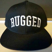 "RUGGED    ""Arch Logo"" Snap back (Black×White)"