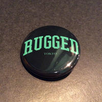 "RUGGED ''Arch logo"" button badge"