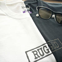 "RUGGED ""type box"" high grade cotton tee (Black×Black)"