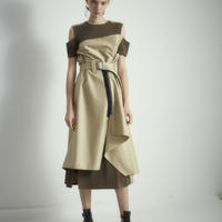 SHIROMA trench wrap dress