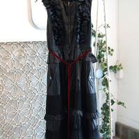 SHIROMA 17-18A/W Female punks nylon dress -black-
