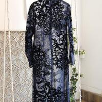 SHIROMA 20-21A/W flocky high neck dress