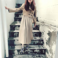 SHIROMA asymmetry trench coat