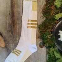 SHIROMA high socks - iceblue×white -