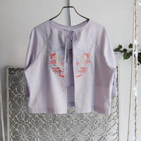 BANSAN inaho motif embroidery cotton blouse