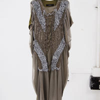 SHIROMA 20S/S silk cord embroidery dress