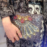 MAWI GLITTER CLUTCH BAG