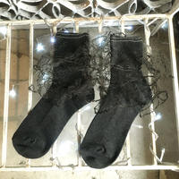 Yan na Maury black lace socks