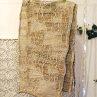SHIROMA 15-16A/W ghost jacquard stole -beige-
