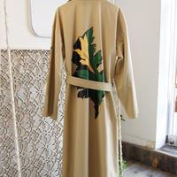 SHIROMA 19-20A/W leaf print oversize coat