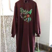 SHIROMA 19-20A/W embroidery hooded dress