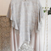 SHIROMA 17S/S BREAK Jacquard ruffle tunic