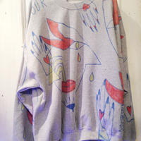 VAVADUDU hand drawing sweat shirt 【2】
