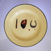 SELETTI TOILETPAPER plate 26cm I LOVE YOU