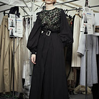 SHIROMA 19-20A/W puff sleeve lace dress