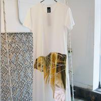 SHIROMA oversize thick print dress