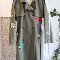 ma.macaron×GUSUCUMA trench coat -flower-
