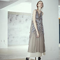 SHIROMA 19S/S silk spindle dress