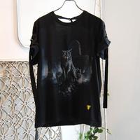 SHIROMA remake spindle T-shirts【8】