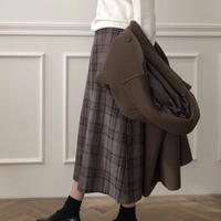 《予約販売》wool blend check long skirt