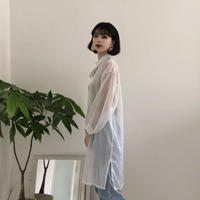 《予約販売》see-through shirt one-piece