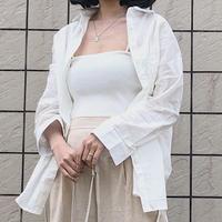 《予約販売》cotton basic shirt
