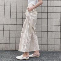 《予約販売》linen blend line pants