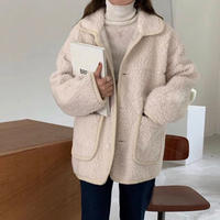 《予約販売》wool blend boa half coat (2color)