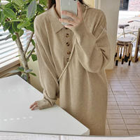 《予約販売》5button knit one-piece