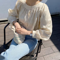 《予約販売》 volume check blouse