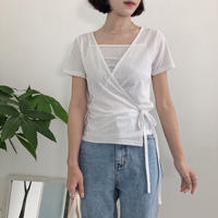 《予約販売》camisole set lap t-shirt