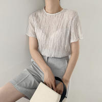 《予約販売》crinkle 2way blouse