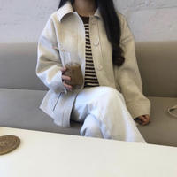 《予約販売》loose fit wool jacket