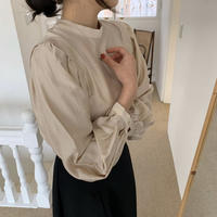 《予約販売》silk puff sleeve blouse