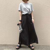 サイドレースアップTシャツ/2color