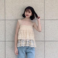 tiered lace camisole