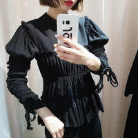 shirring frill blouse