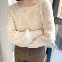 《予約販売》square cable knit