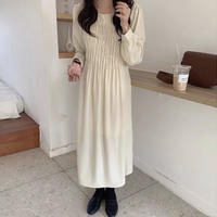 《予約販売》crinkle long one-piece